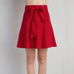 ModCloth red linen mini skirt